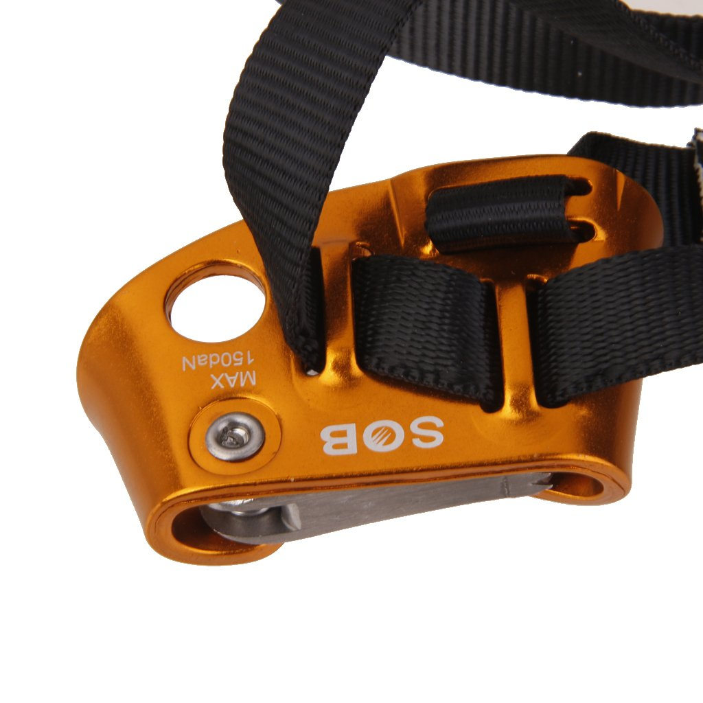 Rechts Fu/ß Klettern Ascender Outdoor Fu/ßsteigklemme f/ür Durchmesser 8-13mm Seil Toygogo Links