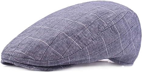 2019 Hat, Gorra Acolchada para Hombre Algodón Gorra Plana Ajustable Pato de Vendedor de periódicos Gorro del Sombrero irlandés 58cm (Color : 2, Tamaño : Talla única): Amazon.es: Deportes y aire libre