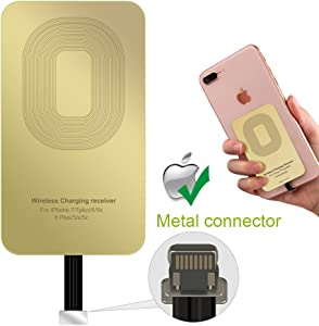 XIKOU QI Receiver for iPhone 5S SE 5C 6S 6SPlus 7 7Plus iPad Air Pro Wireless Charging Receiver