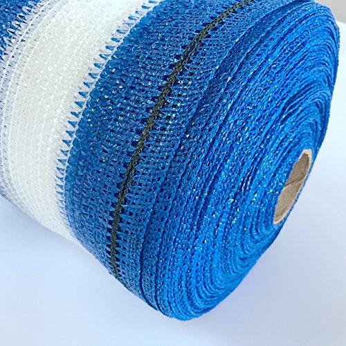 Zenda 70% 1 M Ancho Azul Y Blanco Sun Shade Net con gamuza de ...