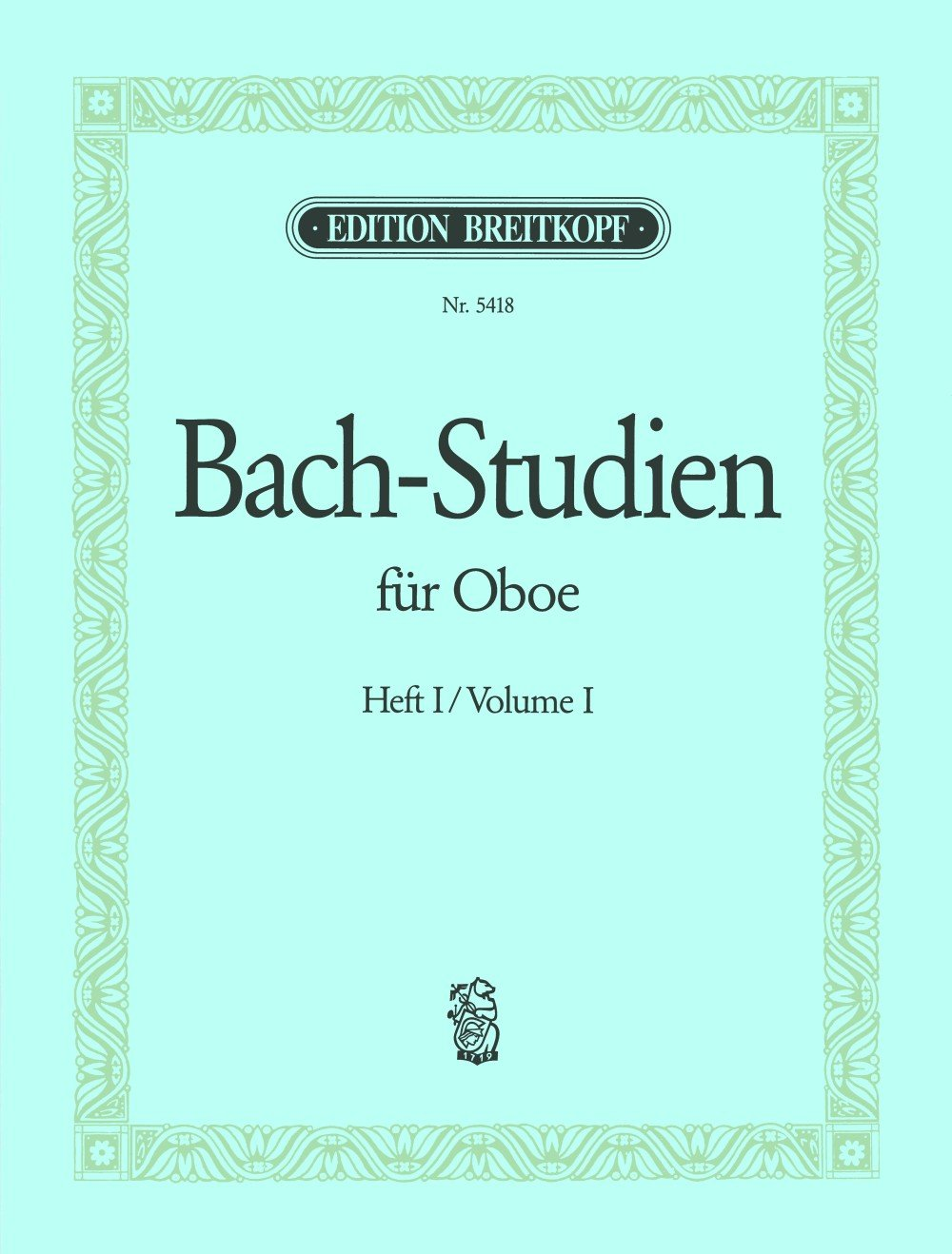Bach Studies for Oboe - Volume 1 (A collection of arias and movements)