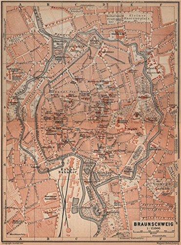 Amazoncom BRAUNSCHWEIG town city stadtplan Brunswick Lower