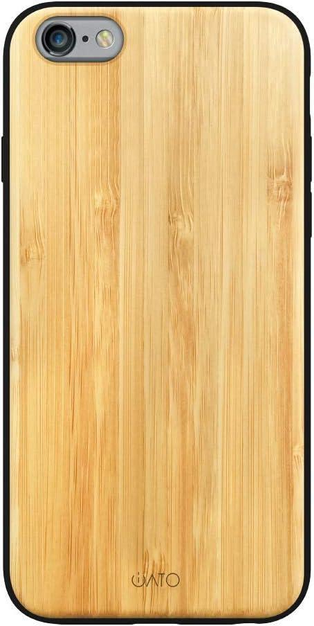 iATO iPhone 6s Plus / 6 Plus Case Wood Grain. Unique & Classy Real Bamboo Wood iPhone 6s Plus / 6 Plus Case {Fully Protective Shockproof Bumper & ...