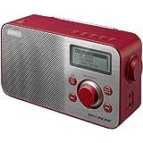 Sony XDR-S60 - Radio digital de 1 W (DAB, DAB+, FM, pantalla LCD, 3.5 mm), rojo