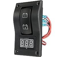SODIAL Panel de prueba de bateria doble LED