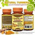 Natural Turmeric Curcumin Antioxidant Supplement - 95% Standardized Curcuminoids Capsules for Joint Pain & Back Pain Relief - Anti Aging & Anti-Inflammatory 60 Vegetarian Pills