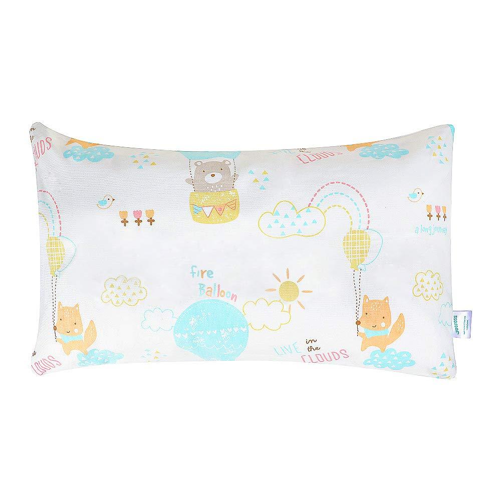 Yoofoss Babykissen Kissen Kinder Kopfkissen Schlafkissen Waschbar Kleinkinder Babykopfkissen mit Kissenbezug
