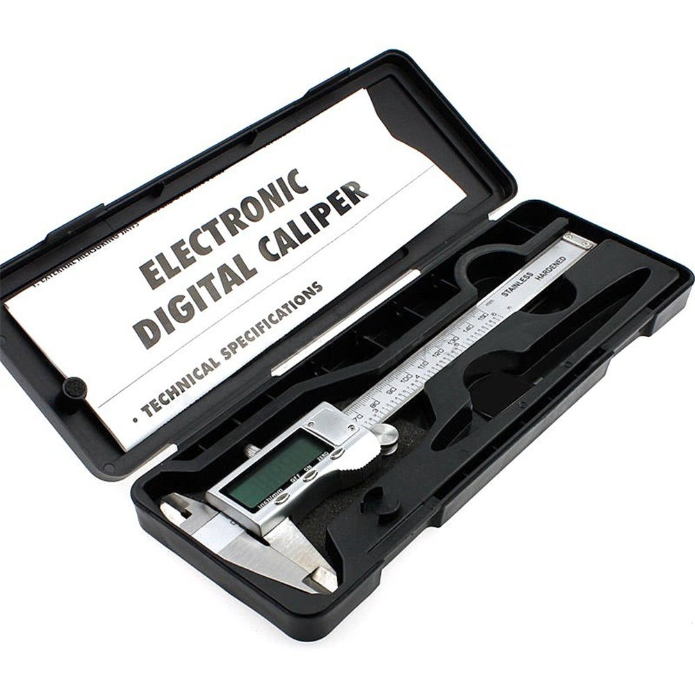 High Quality 150mm/6-inch hardened Stainless Steel Electronic Digital Vernier Caliper Micrometer With Box by ZKG