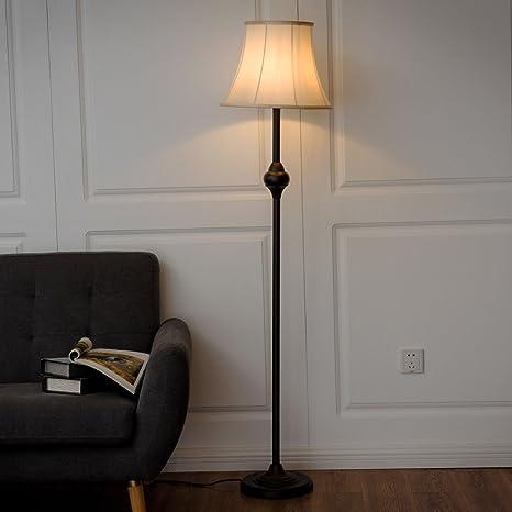 Amazon.com: safstar Bronce moderna lámpara de pie luz ...