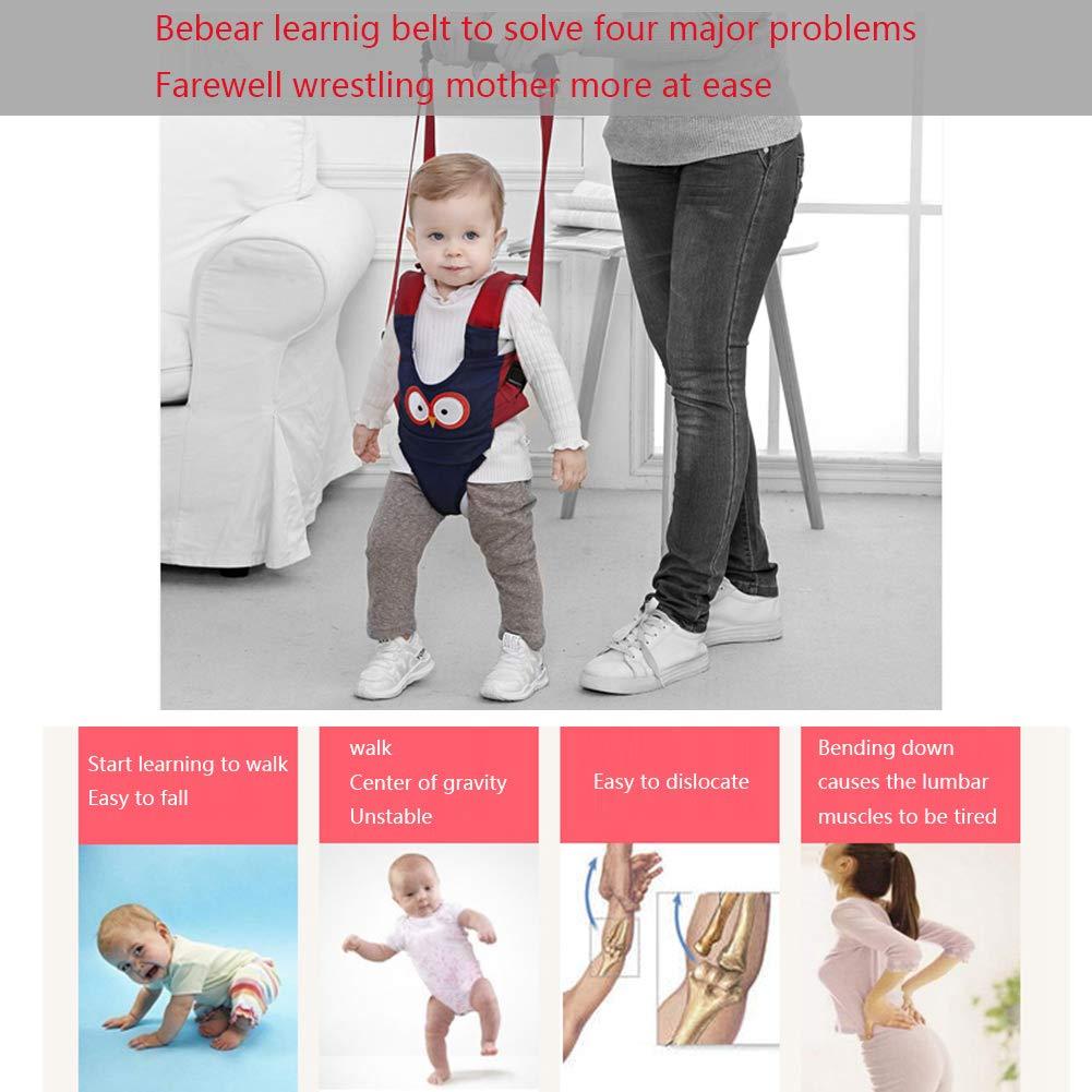 Azul Andador Walker para Beb/és Aprender Caminar Correa Ajustable Arn/és de Seguridad de Andar Primeros Pasos Happy Cherry