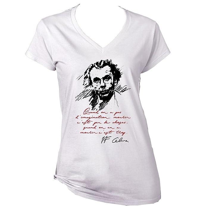 Teesquare1st LOUIS FERDINAND CELINE IMAGINATION Tshirt di cotone . beb3b5484fe