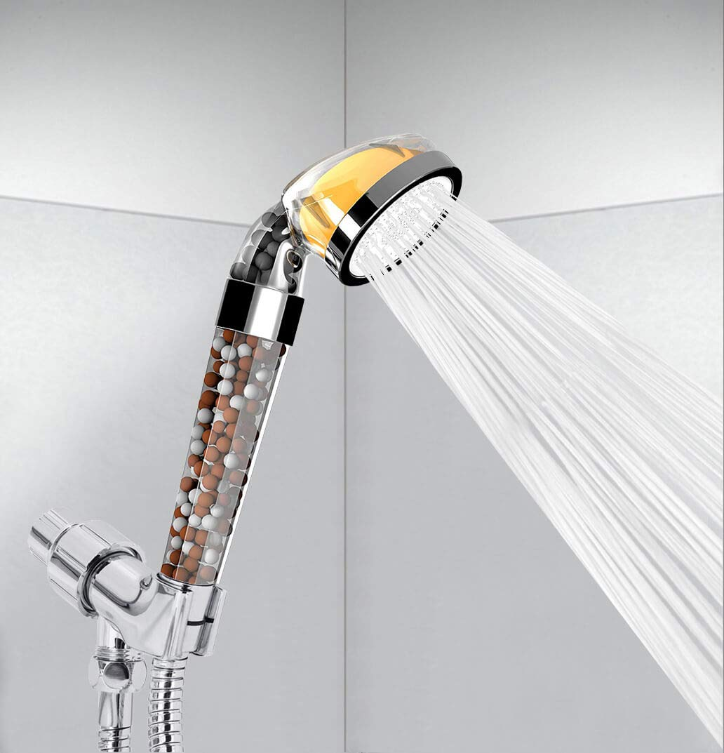 Vitamin C Shower Filter - Filtered Shower Head - Hard Water Softener - Replaceable Filters Remove Flouride and Chlorine - Detachable High Pressure Showerhead with Hose and Handheld Spray by PureAction (Image #6)
