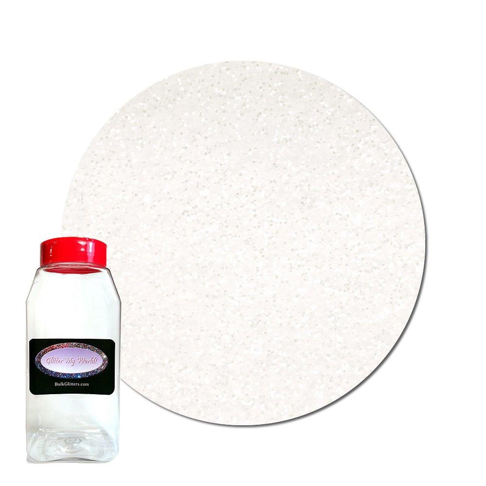 Glitter My World! Ultra Fine Glitter Pearlescent: White Lily Dream 1 lb Jar