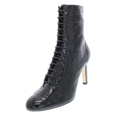 c76477e8c95 JIMMY CHOO Womens Daize Patent Leather Ankle Booties Black 37 Medium (B
