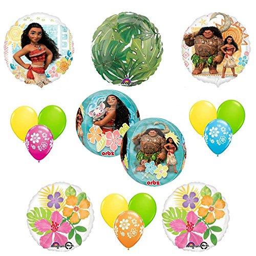 Amazon Disney Moana 15 Pc Birthday Party Supplies Balloon Decoration Kit With 4 Panel Orbz Toys Games