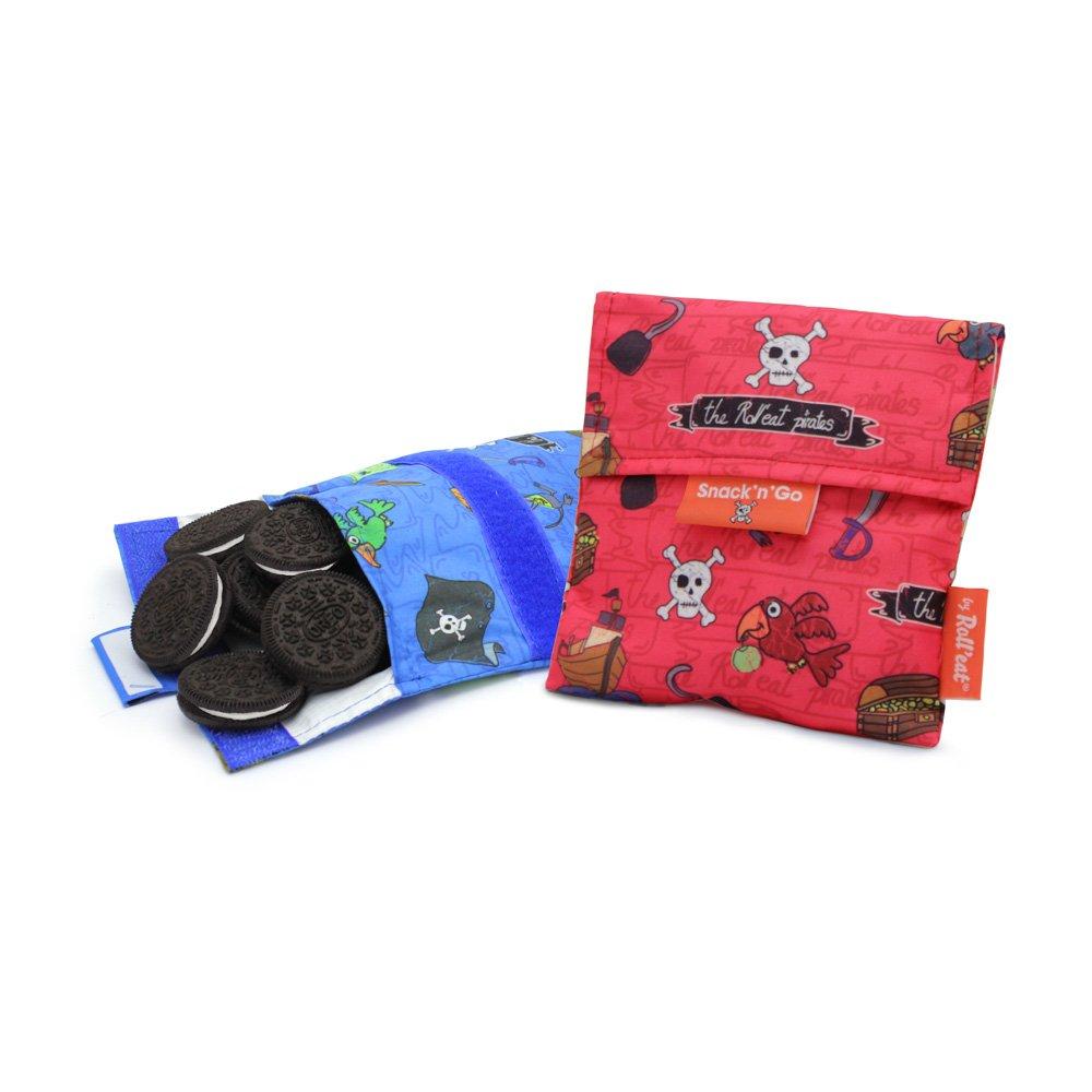 Rolleat- Snack bag SnacknGo Kids Forest ZERO WASTE saco merenda porta alimenti Porta snacks riutilizzabile