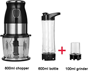 Multi Function Personal Blender Mixer Food Processor Meat Grinder Bowl BPA FREE 600ml Smoothies Maker Portable Juicer,Standard extra 100ml