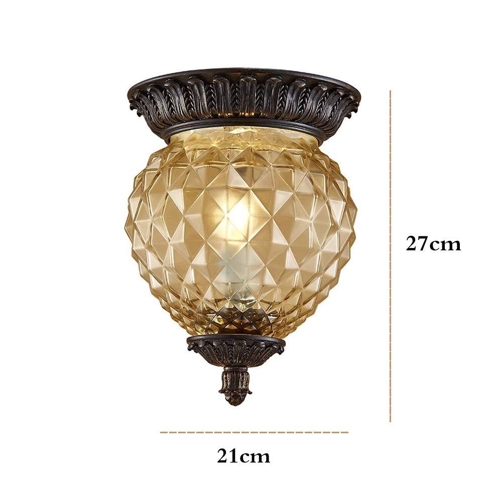 Amazon.com: Lámpara de techo retro vintage de piña con ...