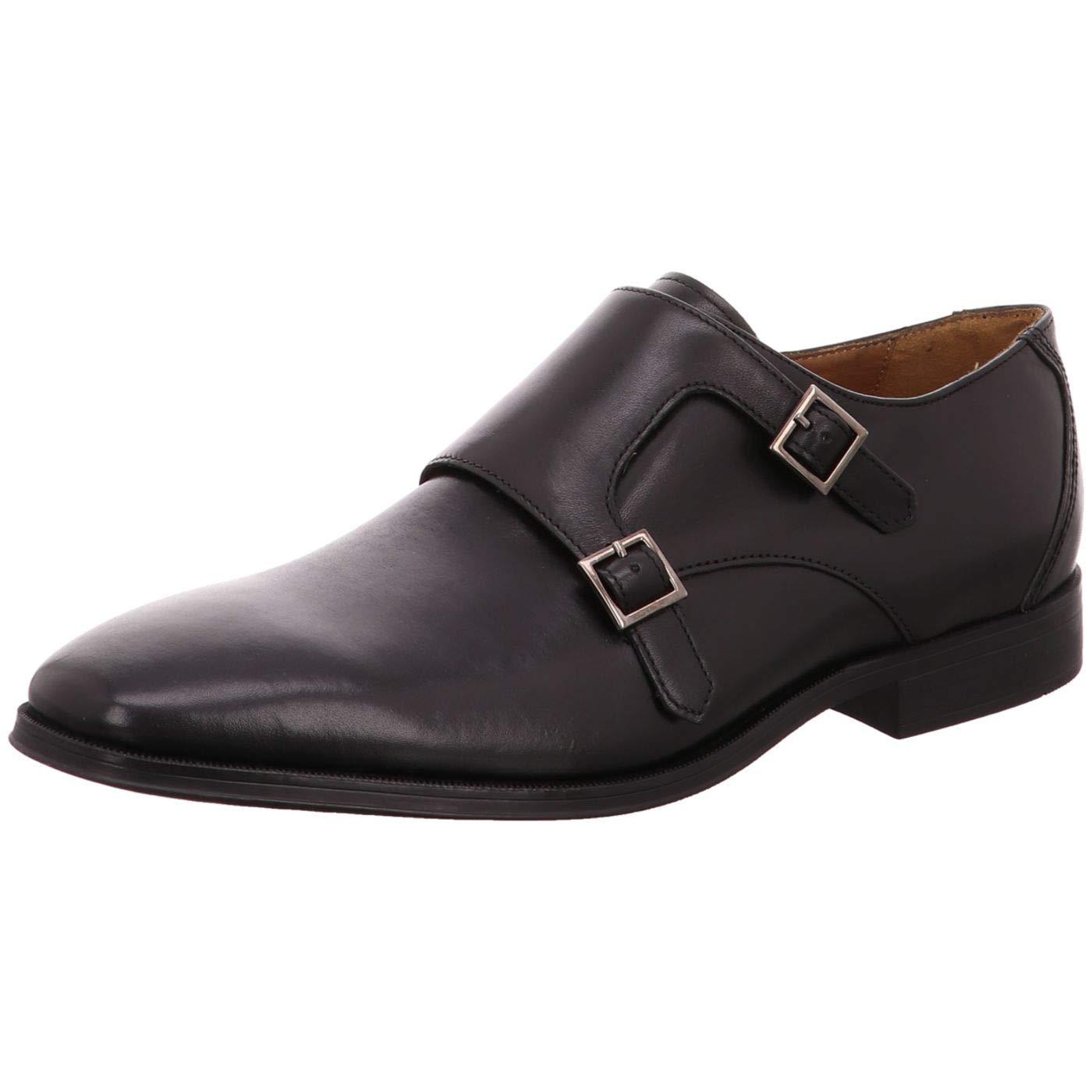 Clarks Herren Gilman Step Slipper Schwarz (schwarz Leather) 45 EU  | Attraktives Aussehen