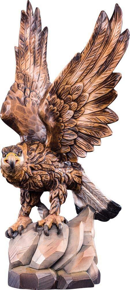 Holzschnitzerei Oswald Amort Steinadler   70cm     Natur - Unbemalt Farbe - mit  arben Bemalt 10cm