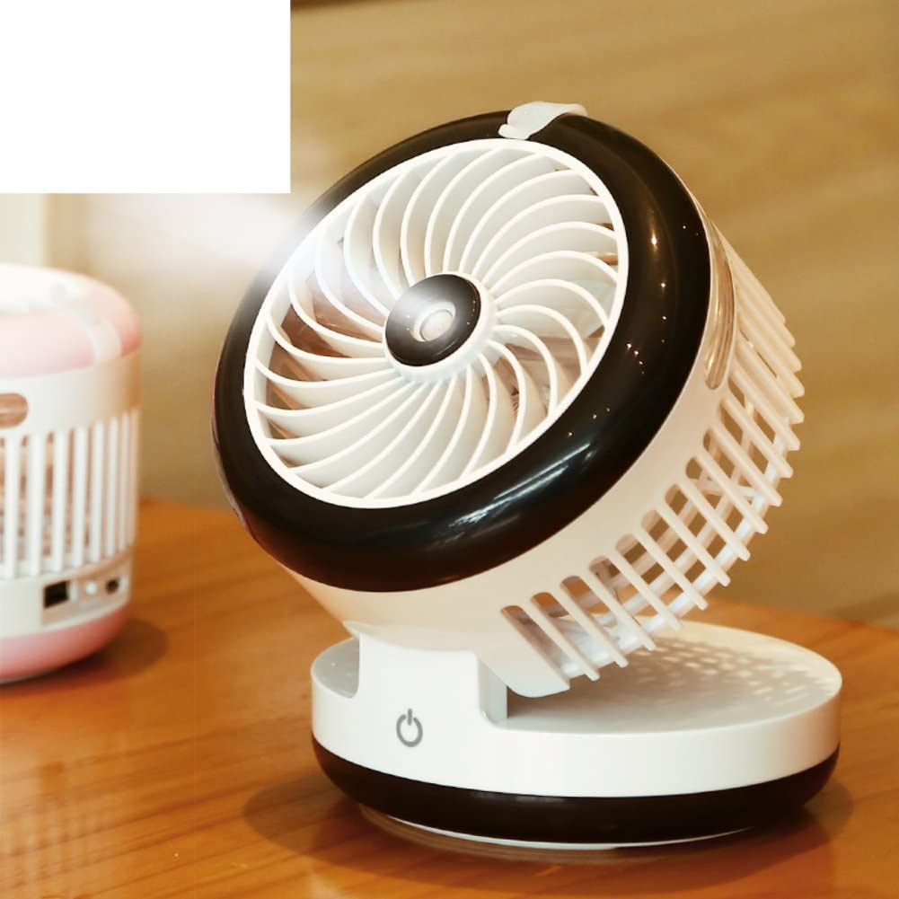 JYXXNL Portable electric fan,Rechargeable spray Humidification air conditioner-pink