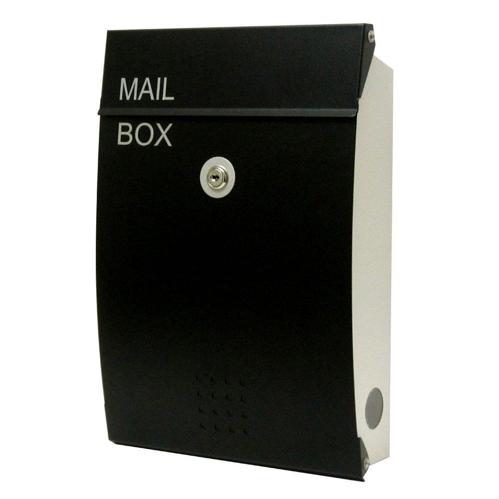 EUROデザイナーズポスト ユーロデザイナーズポスト MB5005 ブラック 郵便受け MB5005-KM-BLACK 036 奥行26×高さ38×幅8.5cm ブラック ブラック B07DL9NSV5