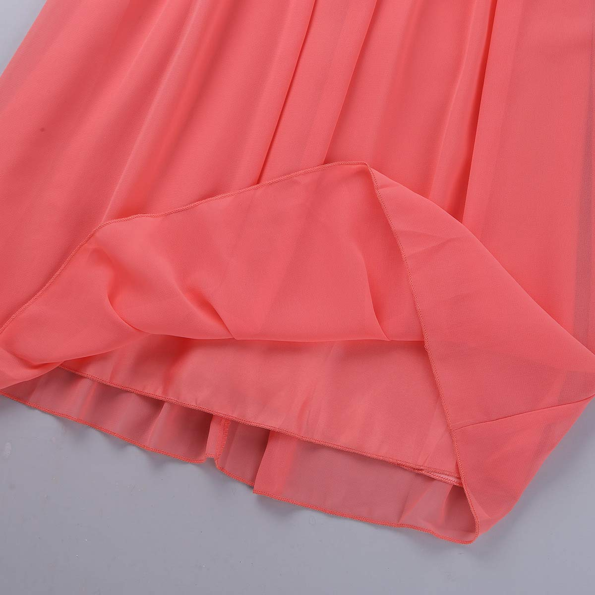 CHICTRY Kids Big Girls Pleated Elegant Long Bridesmaid Dress Party Wedding Graduation Chiffon Gown