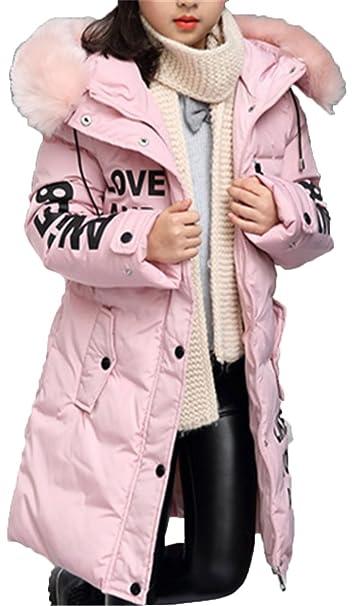 EMIN Mädchen Baby Kids Trenchcoat Frühling Herbst Jacken Mantel Outwear  Beiläufig Winterjacke Pelzkragen Baumwolljacke 615459e423