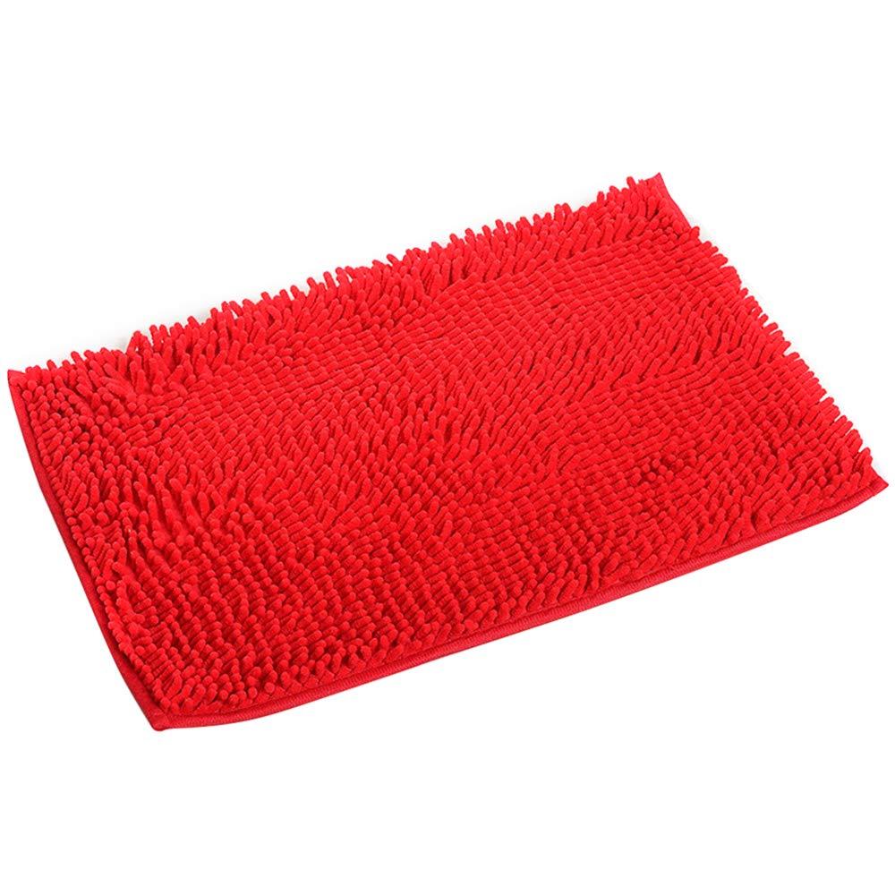 Kisstaker Non-Slip Bath Mat Microfiber Bathroom Mats Shower Rugs Carpet 20x 32 Red COMIN18JU056095