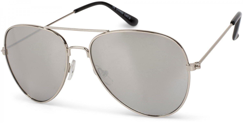 styleBREAKER occhiali da pilota da bambini con montatura metallica in acciaio inossidabile, occhiali da sole 09020059
