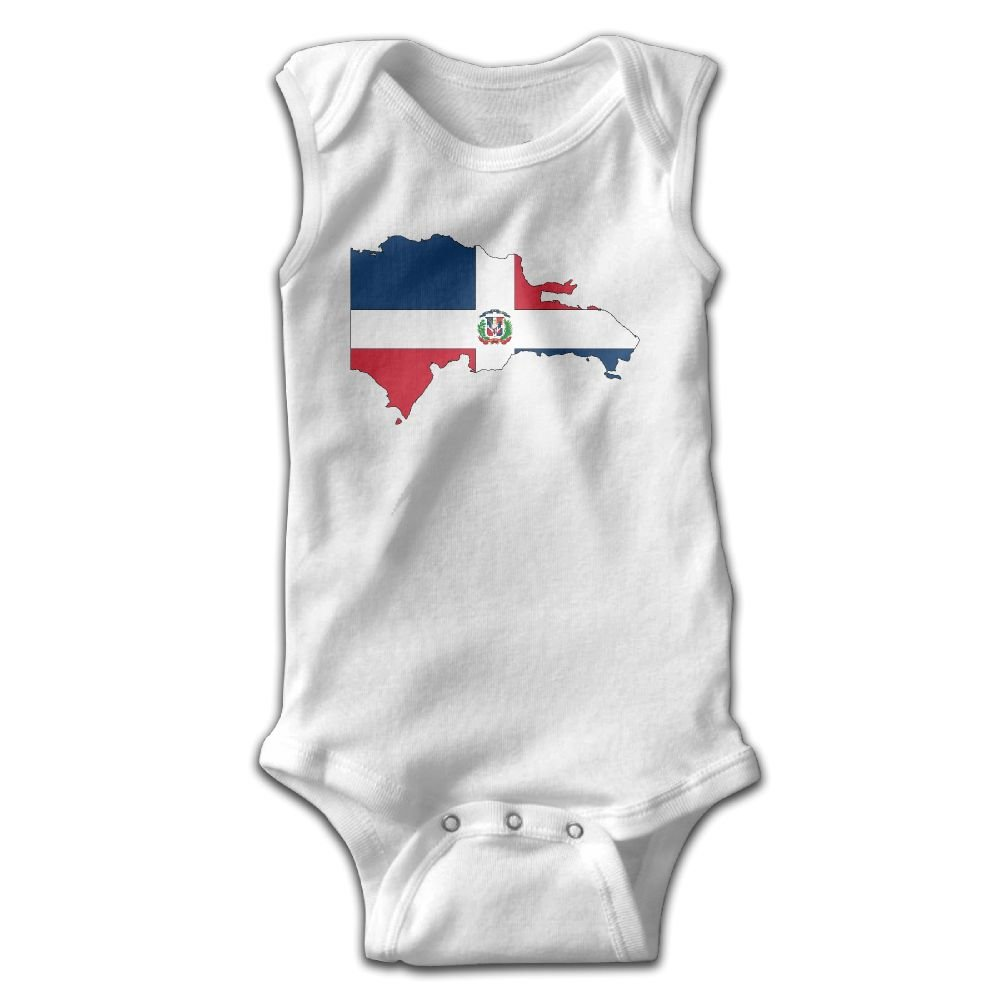 Dominican Republic Flag Graphic Newborn Baby Long Sleeve Bodysuit Romper Infant Summer Clothing