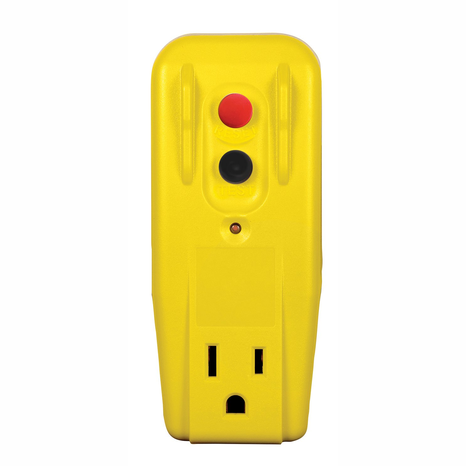Tower Manufacturing 30340001 Heavy Duty Commercial Grade 15 Amp Auto Portable Ground Fault Circuit Interrupter W Two A Breaker Reset 2 Prong Gfci Single Outlet Adapter Yellow Plug Adapters Industrial