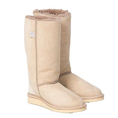 bbe4d39b4 Amazon.com: Celtic & Co Womens British Sheepskin Calf Height Indoor Slipper  Boots: Shoes