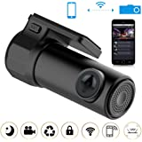 Zibuyu Full HD 1080P Wifi Car Dvr Camera Video Recorder Monitor for Android/iPhone