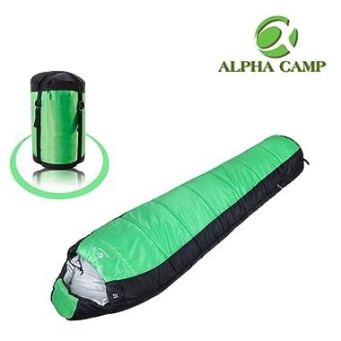 ALPHA CAMP Mummy Sleeping Bag for Adults, 3-4 Season Camping Sleeping Bag, 10℉-40℉