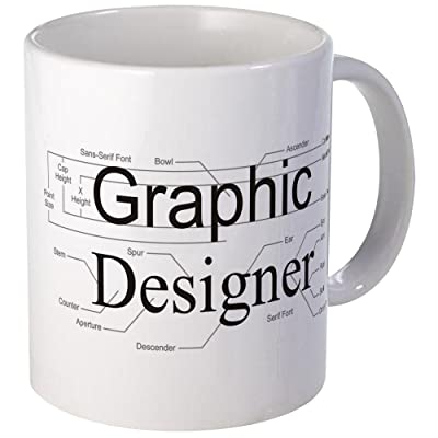 CafePress - Graphic Designer Mug - Unique Coffee Mug, Coffee Cup