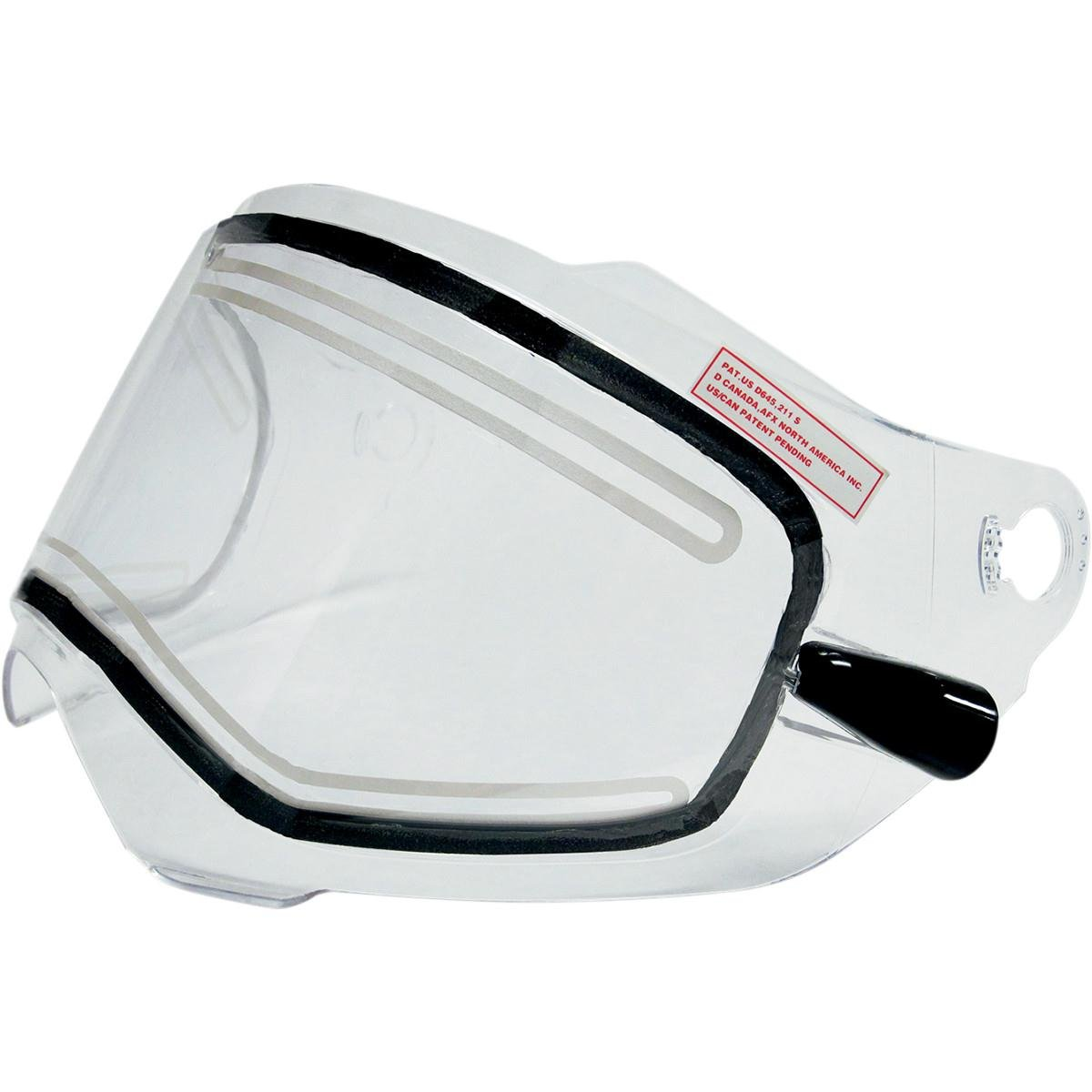 AFX AMPD Electric Dual-Lens Shield with Cords for FX-39 Dual Sport Helmet - Clear 0130-0460