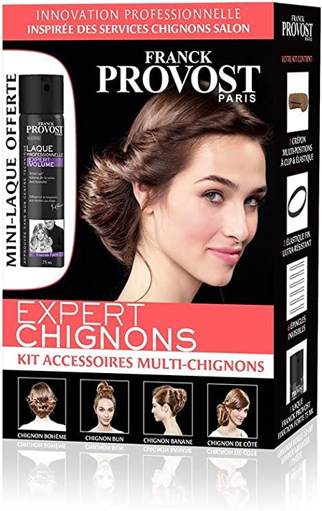 Franck Provost Expert Chignons Bun Accessories Kit Create Multiple Chignons For Hairdressers With Mini Hairspray Amazon Co Uk Beauty