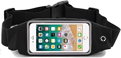 Travel for iPhone Exercise Blue) Screen Touch Fanny Pack Zippered Waterproof Phone Belt for Hands Free Running Workout Phone Holder Workouts Galaxy and All Phone Models Running Belt Waist Pack