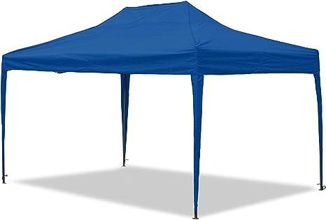 JOM Cenador, impermeable, 3 x 4, 5 m, plegable de Carpa Mallorca, material Oxford 420d revestimiento interior, azul: Amazon.es: Jardín