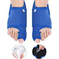 Bunion Corrector Big Toe Straightener with Gel Arch Support for Women and Men, Bunion Splint Brace Support for Hallux Valgus, Overlapping Toe, Flat Foot, Hammer Foot Pain Relief for Night and Day Time