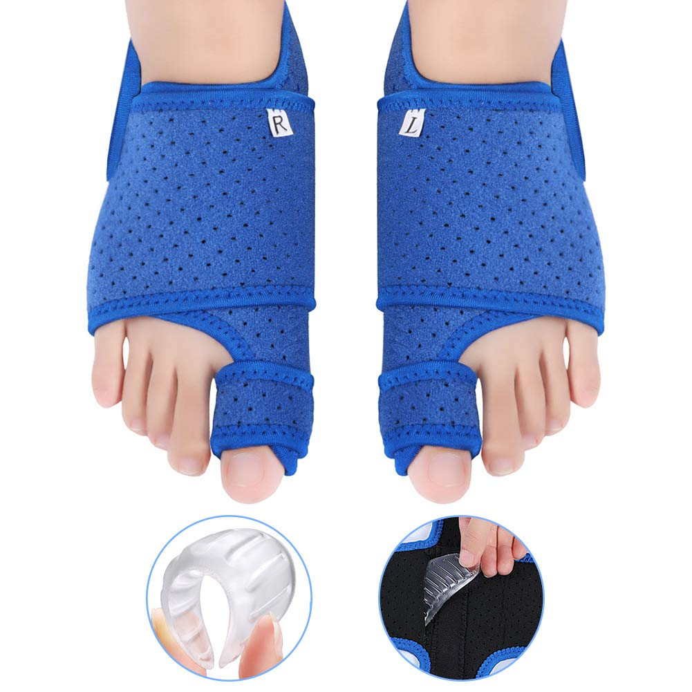 Bunion Corrector Big Toe Straightener with Gel Arch Support for Women and Men, Bunion Splint Brace Support for Hallux Valgus, Overlapping Toe, Flat Foot, Hammer Foot Pain Relief for Night and Day Time by Yosoo Health Gear