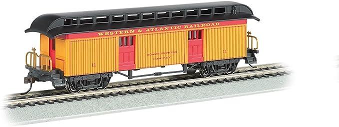 Coach HO Scale Bachmann Industries 1860-1880 Passenger Cars Western /& Atlantic Railroad