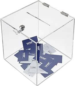 HMF 46917 Caja de donación de acrílico con cerradura   25 x 25 x ...
