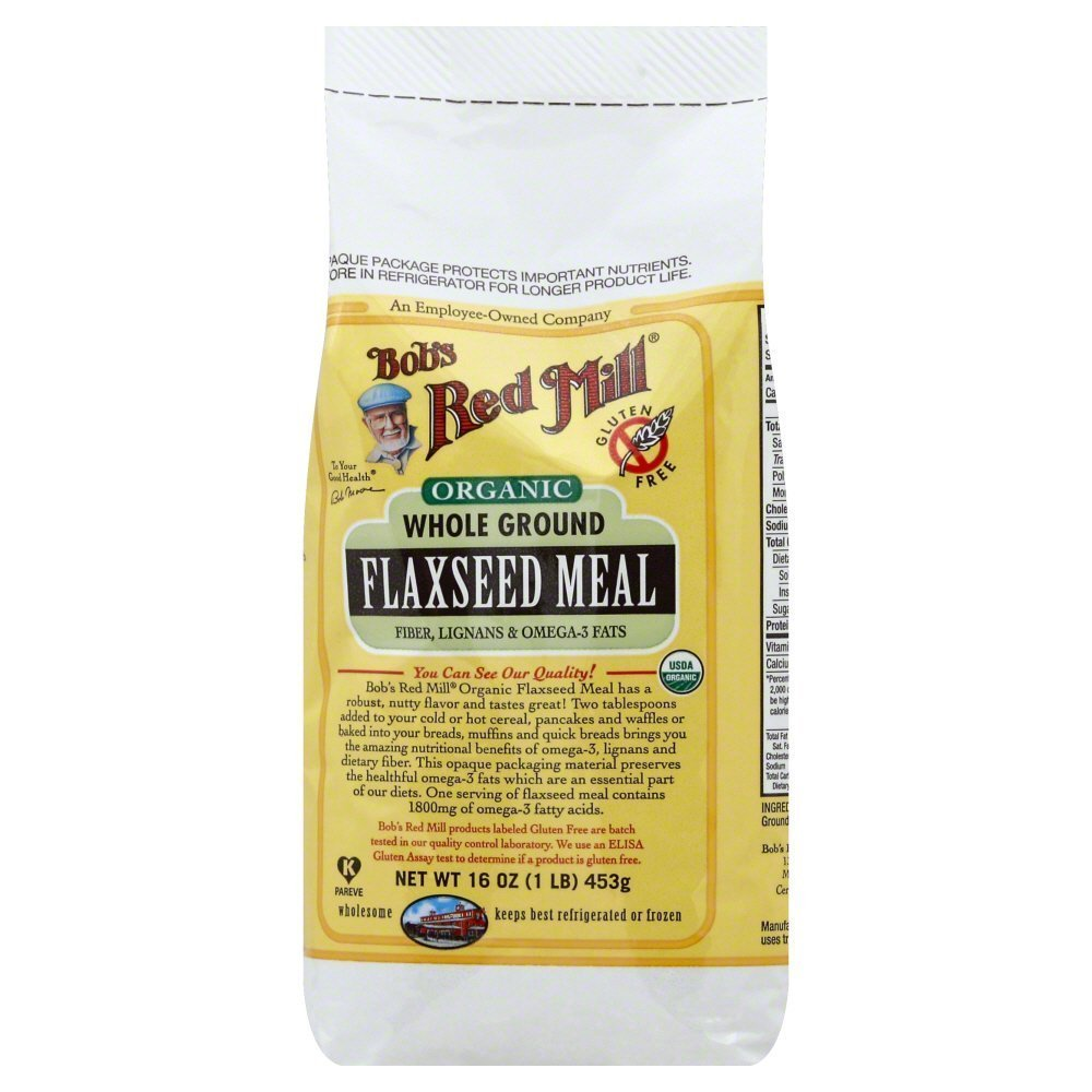 Bobs Red Mill Flaxseed Meal Organic 16.0 OZ(Pack of 6)