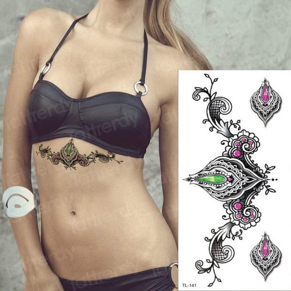 tzxdbh 2 Unids-Yin y Yang Tatuaje Tribal Tatuaje Temporal Mar ...