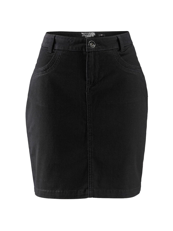 H.I.S Women's Plain Skirt Black Black 18