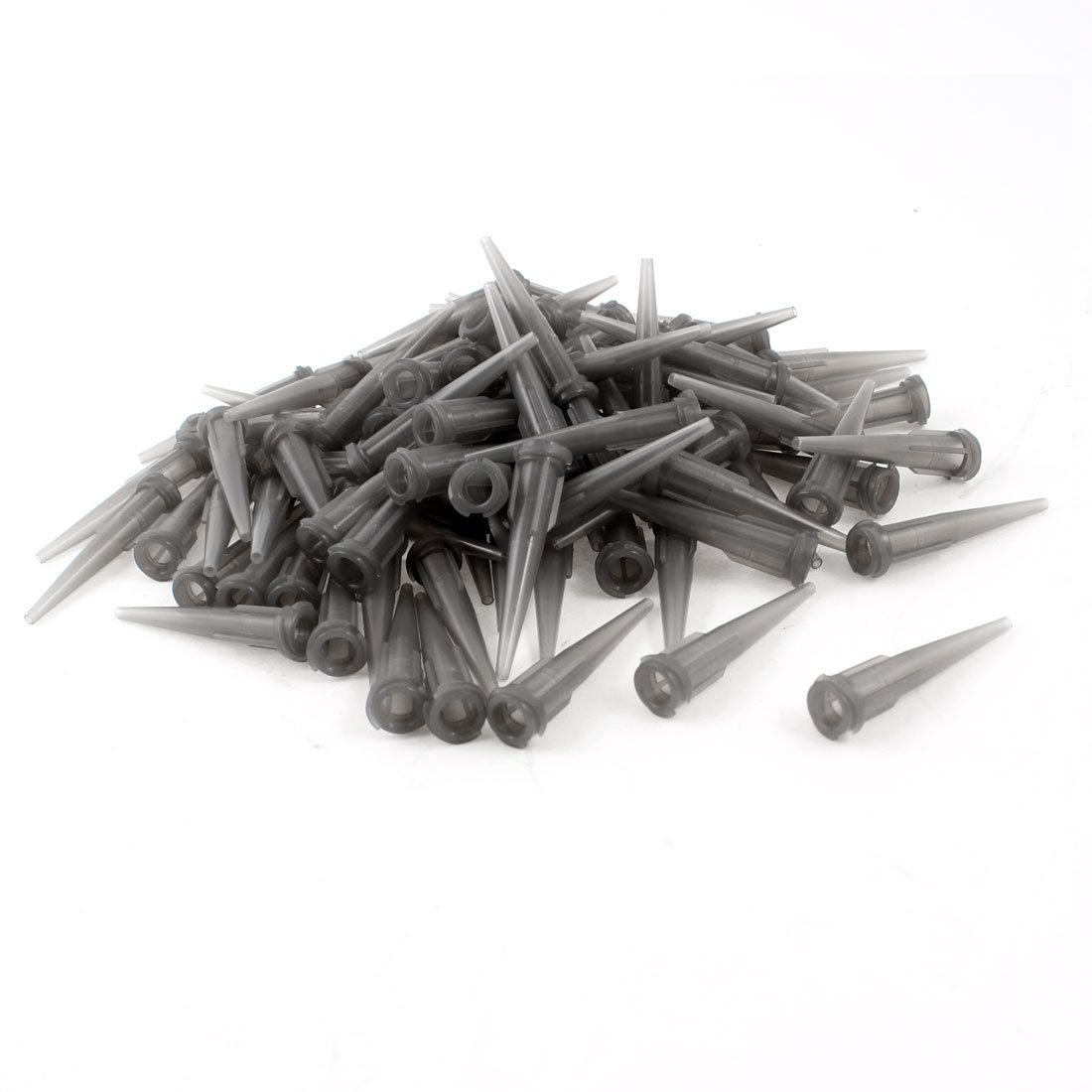 SOURCING MAP SYG Lot de 100 bâtons de colle Gris Pinhead Plastique distributeur de liquide pointe aiguille calibre 16