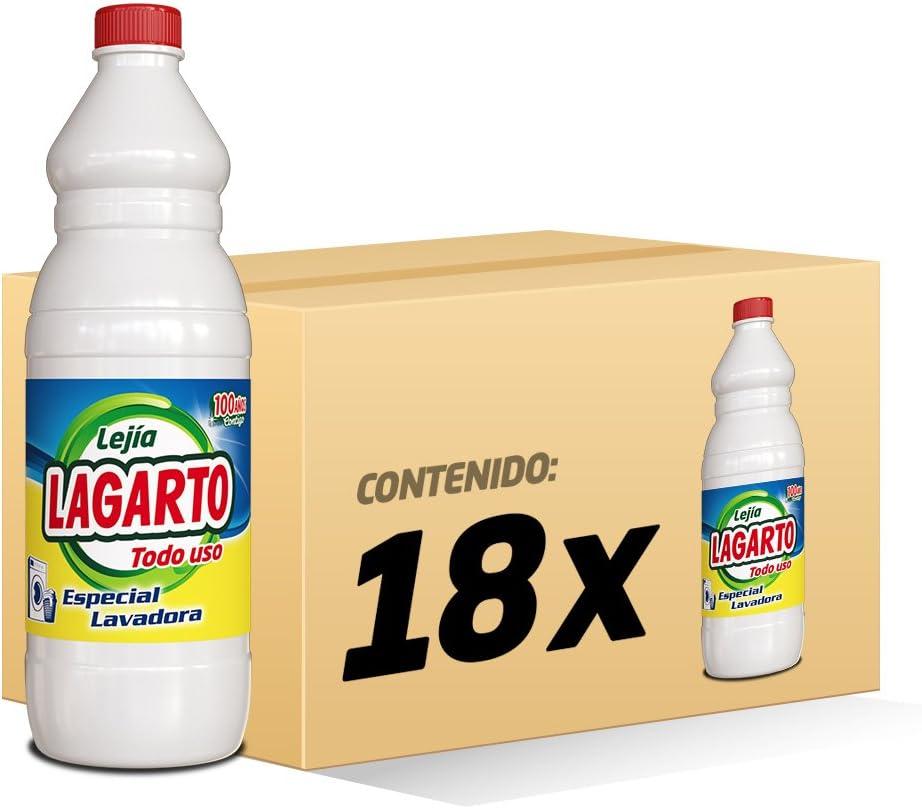 Lagarto Lejía Lavadora Todo Uso - Paquete de 18 x 1000 ml - Total ...