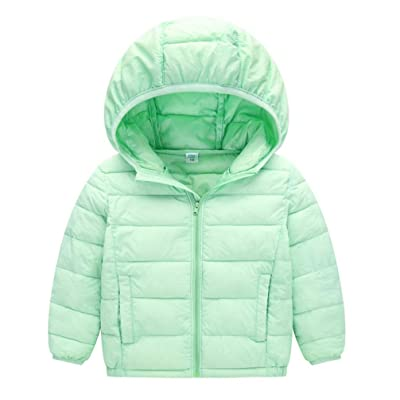 JIEYA Boy Girl Kids Winter Windproof Outerwear Hooded Coat Down Jacket